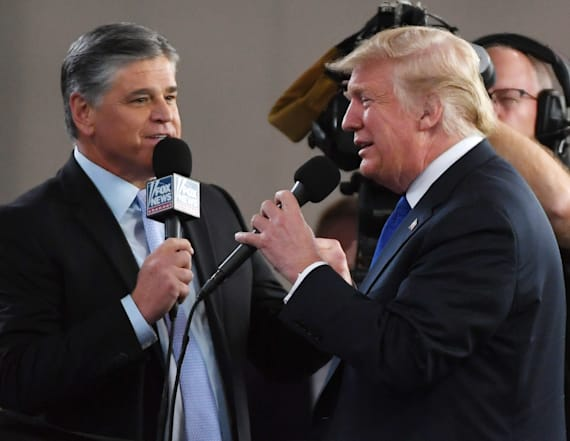 Trump rejects Hannity's favorite conspiracy theory