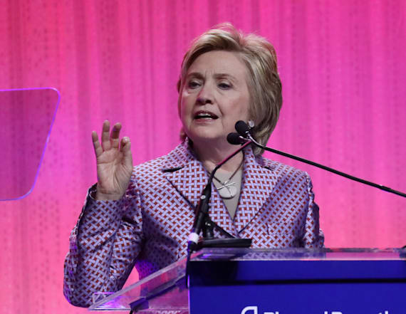 Clinton rails against Trump's budget proposal