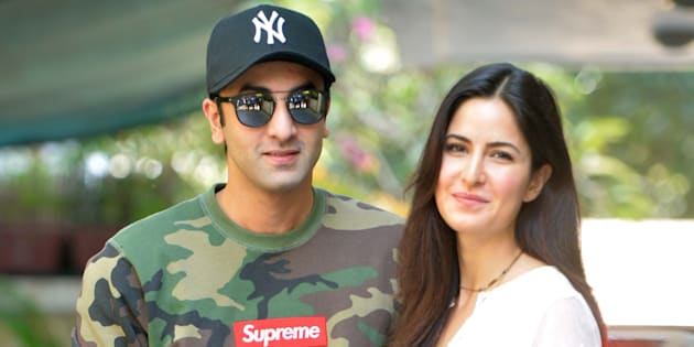 Ranbir Kapoor and Katrina Kaif at Christmas brunch by Shashi Kapoor in Mumbai.(Photo by Milind Shelte/India Today Group/Getty Images)