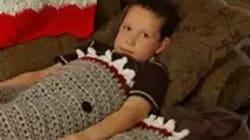 L'étonnant détail sur cette couverture tricotée par une mamie pour son