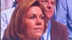 Cospedal rompe a llorar en pleno Congreso del Partido