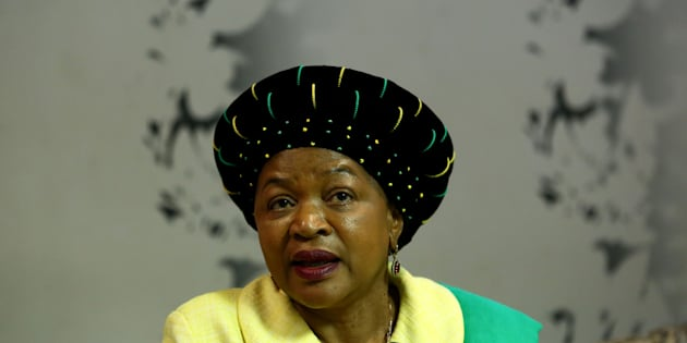 African National Congress (ANC) chairperson and National Assembly Speaker Baleka Mbete during an interview on July 05, 2017 in Johannesburg, South Africa.