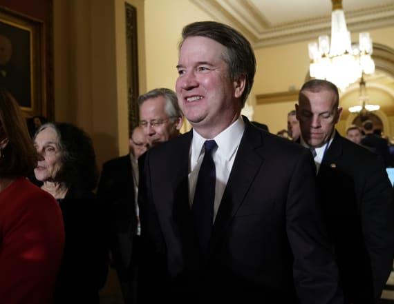 Trump defends Kavanaugh amid new allegations