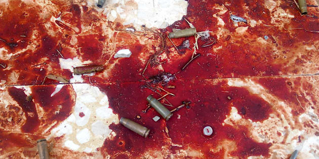 ATTENTION EDITORS - VISUALS COVERAGE OF SCENES OF DEATH AND INJURY  Empty shells and blood stains from victims are seen after an explosion at Al Rawdah mosque in Bir Al-Abed, Egypt November 25, 2017. REUTERS/Mohamed Soliman  TEMPLATE OUT