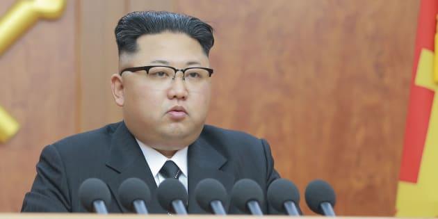 Kim Jong-Un donne une discours pour la nouvelle année 2017.