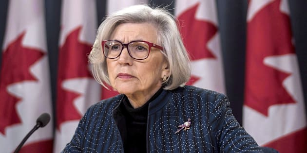 Former chief justice of the Supreme Court of Canada Beverley McLachlin listens to a question during a news conference on her retirement, in Ottawa on Dec. 15, 2017.