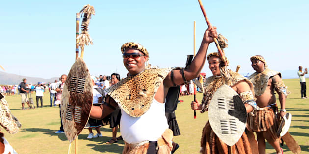 President Zuma's eldest son Edward  arriving at his wedding in Nkandla in 2011.  Photo by Gallo Images / Sunday Times / Jackie Clausen