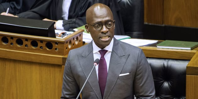 Former finance minister Malusi Gigaba delivers the 2018 Budget speech in the National Assembly on February 21, 2018, in Cape Town.