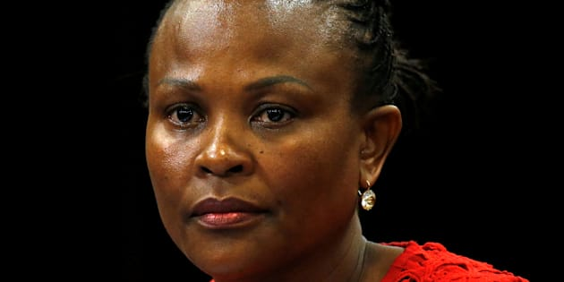 Public Protector Busisiwe Mkhwebane listens during a briefing at Parliament in Cape Town, South Africa October 19, 2016.