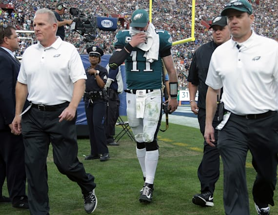 Eagles announce Carson Wentz is done for the season