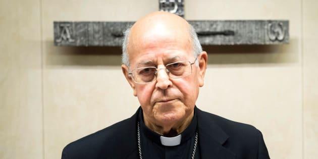 El cardenal, arzobispo de Valladolid y presidente de la Conferencia Episcopal, Ricardo Blázquez, durante la CX Asamblea Plenaria, en Madrid.