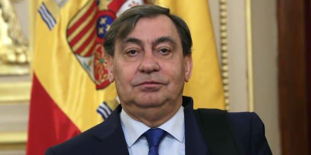 El fiscal general del Estado, Julián SánchezMelgar, poco antes de comparecer en el Congreso.