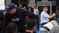 A Huggy Senior And Hecklers Give Trudeau The Most B.C. Welcome