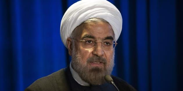 Le président iranien Hassan Rohani à New York en septembre 2013.