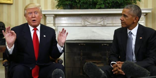 Barack Obama et Donald Trump à la Maison Blanche, le 10 novembre.
