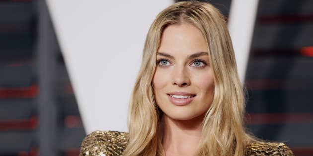 Margot Robbie is a glowing goddess of complexion perfection.