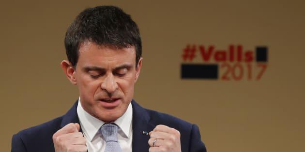 Manuel Valls, lors de son dernier meeting avant le second tour de la primaire de la gauche.