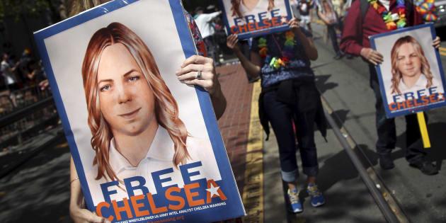 Manifestation pour la libération de Chelsea Manning pendant la gay pride de San Francisco, le 28 juin 2015.