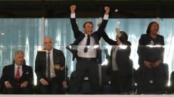 Macron n'a pas caché sa joie au coup de sifflet