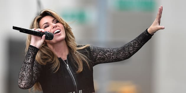 Shania Twain performs on NBC's 'Today' at Rockefeller Center on June 16, 2017 in New York City.