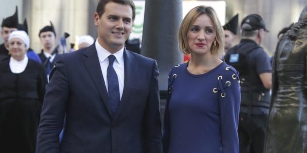 El líder de Ciudadanos Albert Rivera y Beatriz Tajuelo.