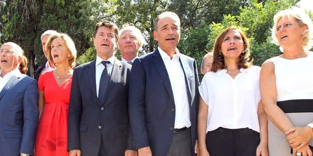 Pécresse, Estrosi, Morano, Copé... En 2012, tous étaient réunis pour rendre hommage à Nicolas Sarkozy. Désormais, c'est la guerre.