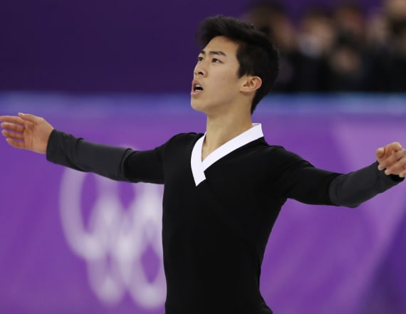 Nathan Chen sets Olympic record with six quad jumps