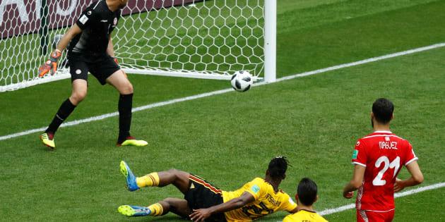 Belgique-Tunisie à la Coupe du monde 2018: le résumé et les buts de la correction belge (5-2), portée par deux doublés de Lukaku et Hazard (En photo : Michy Batshuayi)