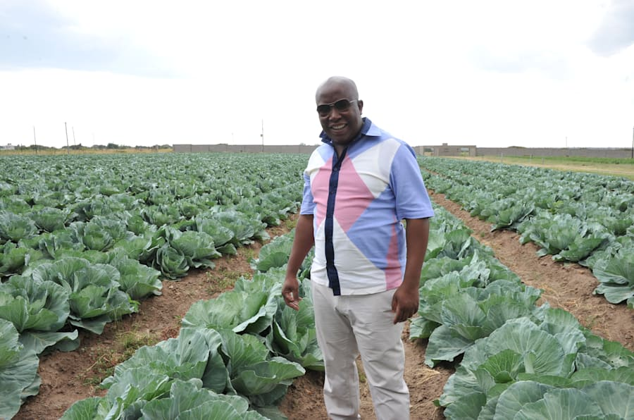Julius Malema on his farm on January 10, 2013 in Seshego, Limpopo.