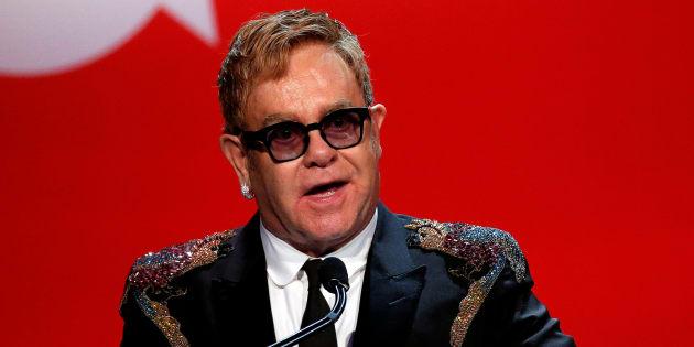 Elton John à New York, le 2 novembre 2016.