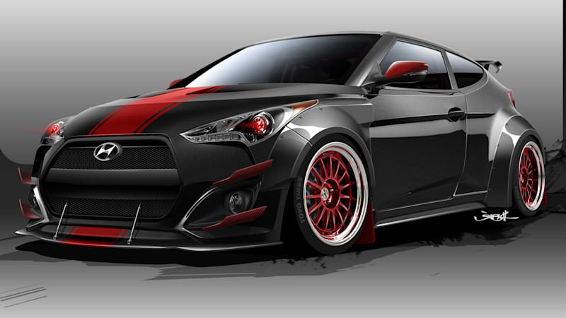 Just A Few Days After Blood Type Racing S Custom Hyundai Veloster Turbo R Spec Is Bringing Demonic Look To The Sema Show In Las Vegas On Nov