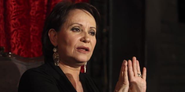 Conferencia de prensa de la actriz y directorA Adriana Barraza en el Café 22 de Ciudad de México el 18 de noviembre de 2017.
