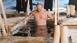 📷 Putin recibe el año ortodoxo en un baño de aguas
