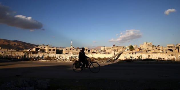 Douma, à l'Est de Damas en Syrie. REUTERS/Bassam Khabieh