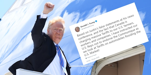 Le G7 vire au fiasco après un tweet de Trump qui torpille l'accord final