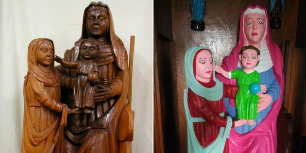La restauration de cette statue du XVe fait polémique en Espagne.