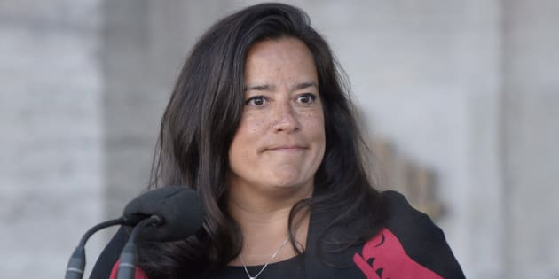 New Veterans Affairs Minister Jody Wilson-Raybould addresses the media following a swearing in ceremony at Rideau Hall in Ottawa on Jan. 14, 2019.