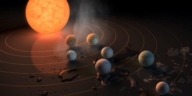 Des chercheurs ont découvert sept exoplanètes similaires à la Terre autour d'une même étoile.