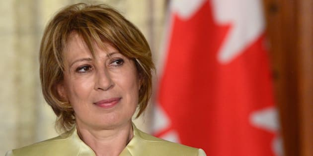 Dr. Mona Nemer is introduced as Canada's new chief science advisor on Parliament Hill in Ottawa on Tuesday.