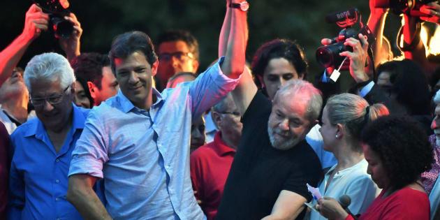 Haddad aparece com no máximo 3% das intenções de voto na última pesquisa Datafolha, enquanto o ex-presidente lidera com 30%.