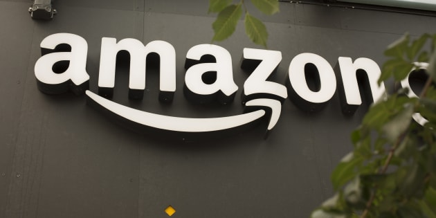 The Amazon logo outside the Amazon Go grocery store in Seattle, Wash., June 16, 2017. Amazon says it will open a second corporate office in Vancouver, but it isn't the highly-coveted HQ2.