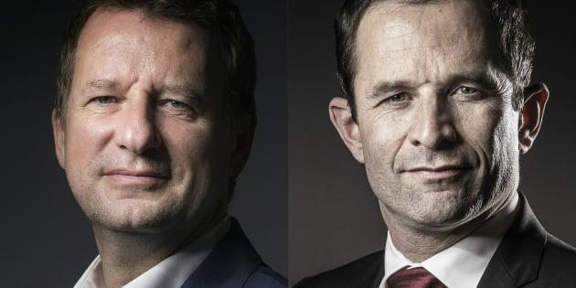 Yannick Jadot et Benoît Hamon ont signé un accord prévoyant le retrait du premier.