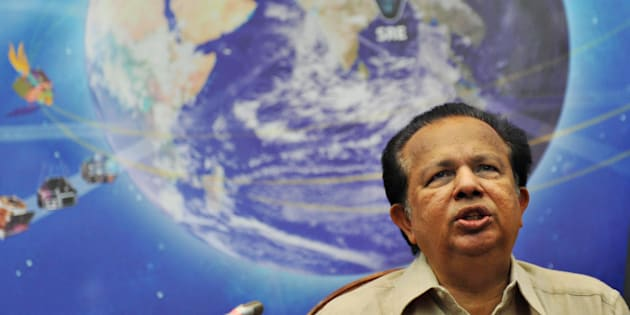 G. Madhavan Nair at a press conference, in 2009. (DIBYANGSHU SARKAR/AFP/Getty Images)