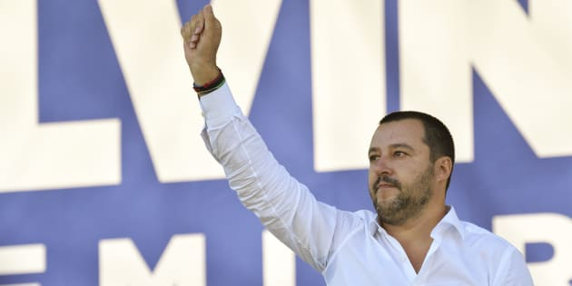 17/09/2017, Pontida, raduno della Lega Nord. Nella foto Matteo Salvini