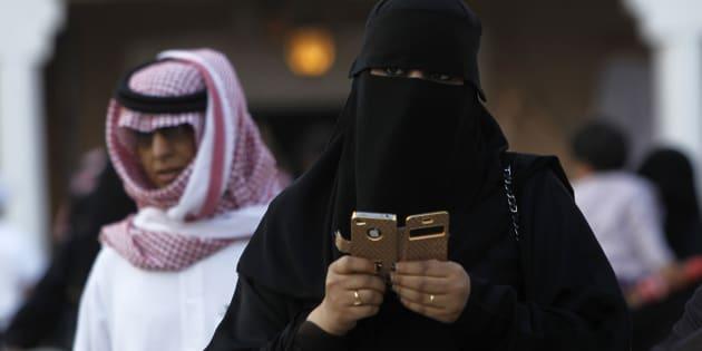 Una mujer saudí, retratada en la capital, Riad, en febrero de 2012.