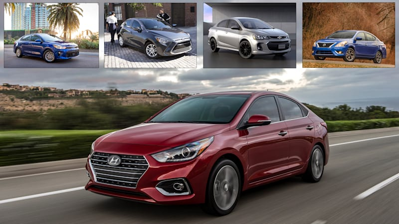 2018 hyundai accent vs subcompact sedans how it compares. Black Bedroom Furniture Sets. Home Design Ideas