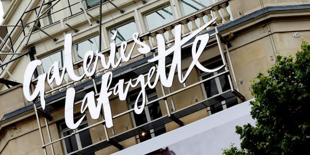 Vue du logo des galeries Lafayette