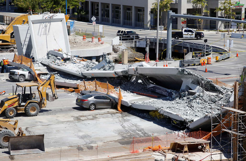 First lawsuit in Miami bridge collapse claims negligence