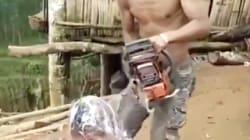 Con una motosierra: así es el peligroso método para cortar el pelo que ya es