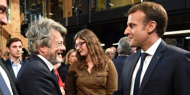 Le président Emmanuel Macron et Jean-Louis Borloo.